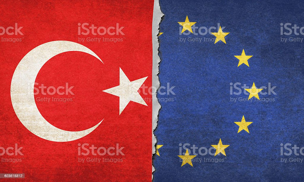 Turkey and Europe stock photo