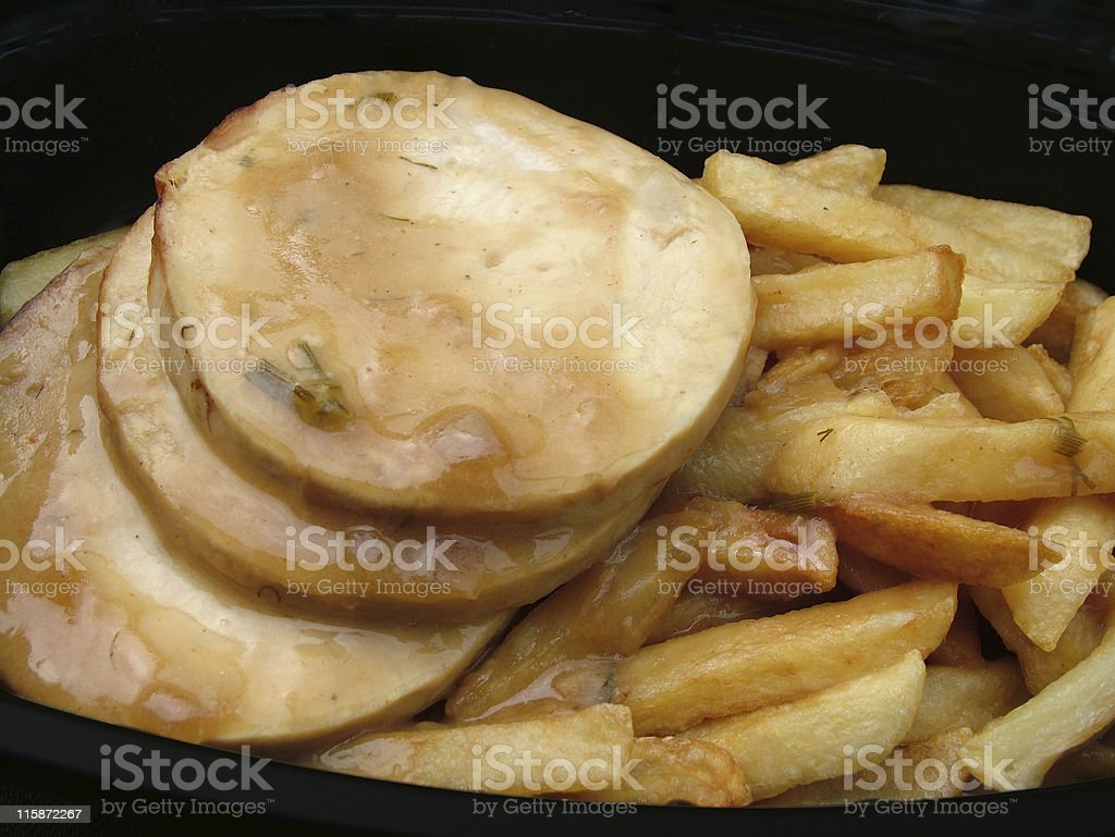 Turkey and fries royalty-free stock photo