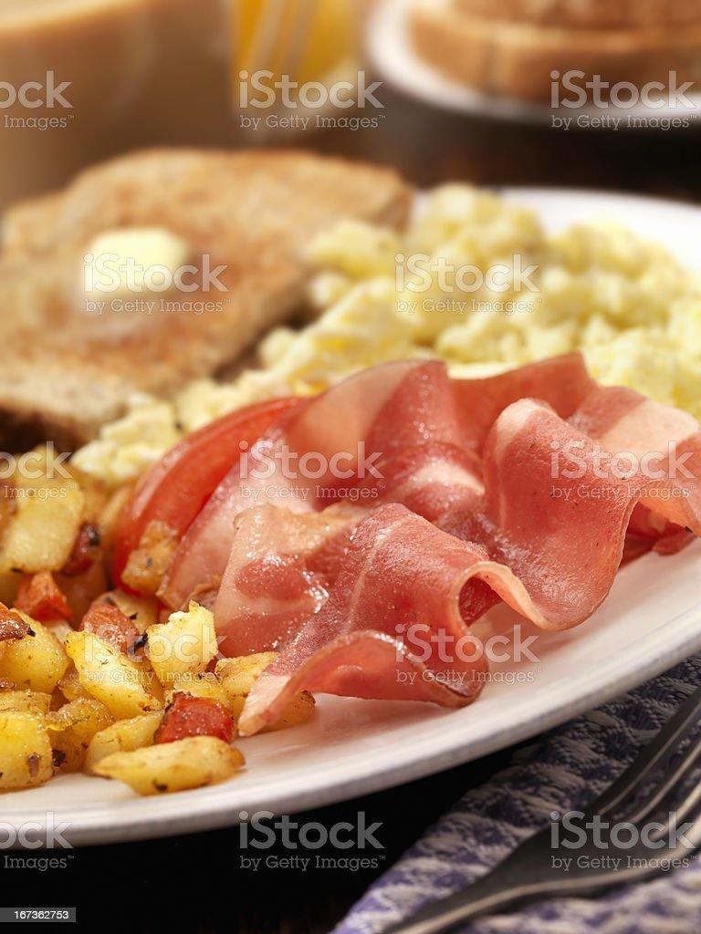 Turkey Bacon and Eggs royalty-free stock photo