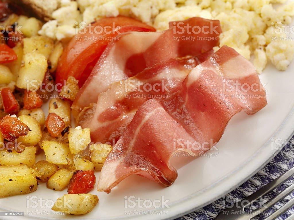Turkey Bacon and Eggs stock photo