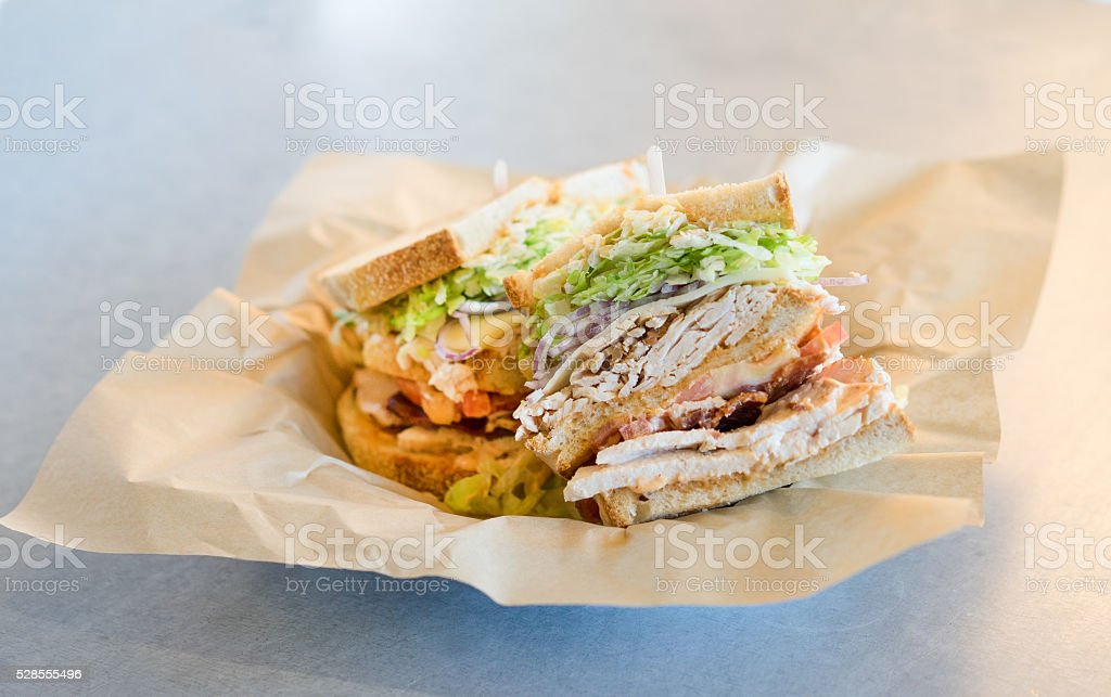Turkey,  Bacon, Cheese Sandwich stock photo