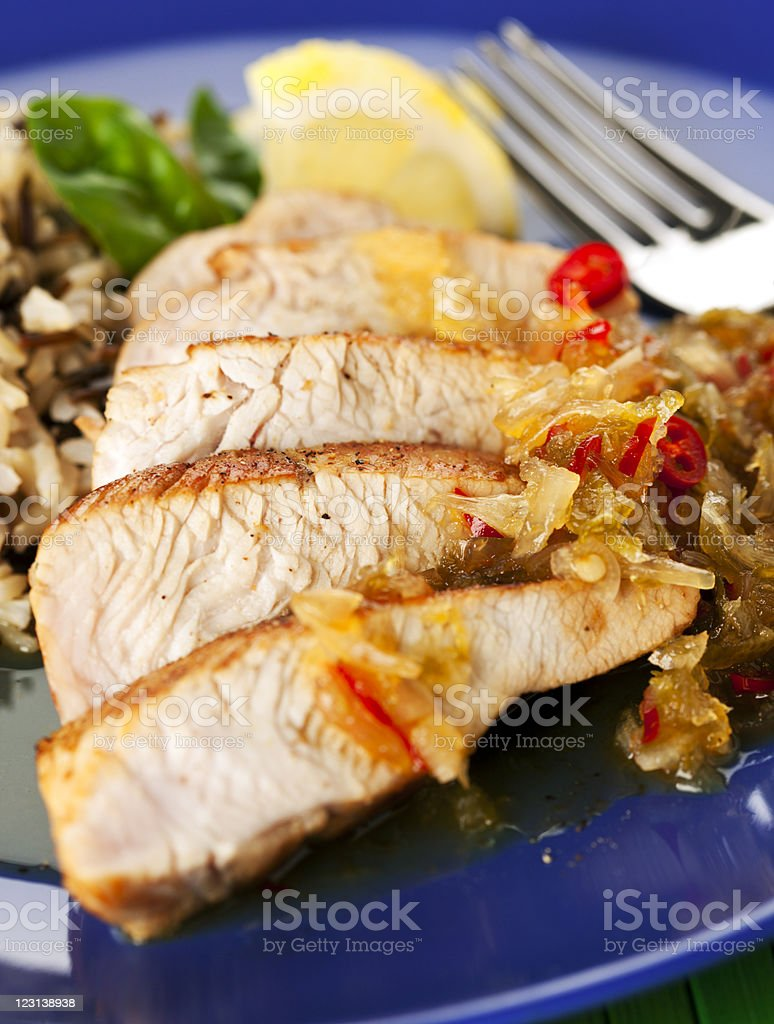 turkey breast dish close-up stock photo