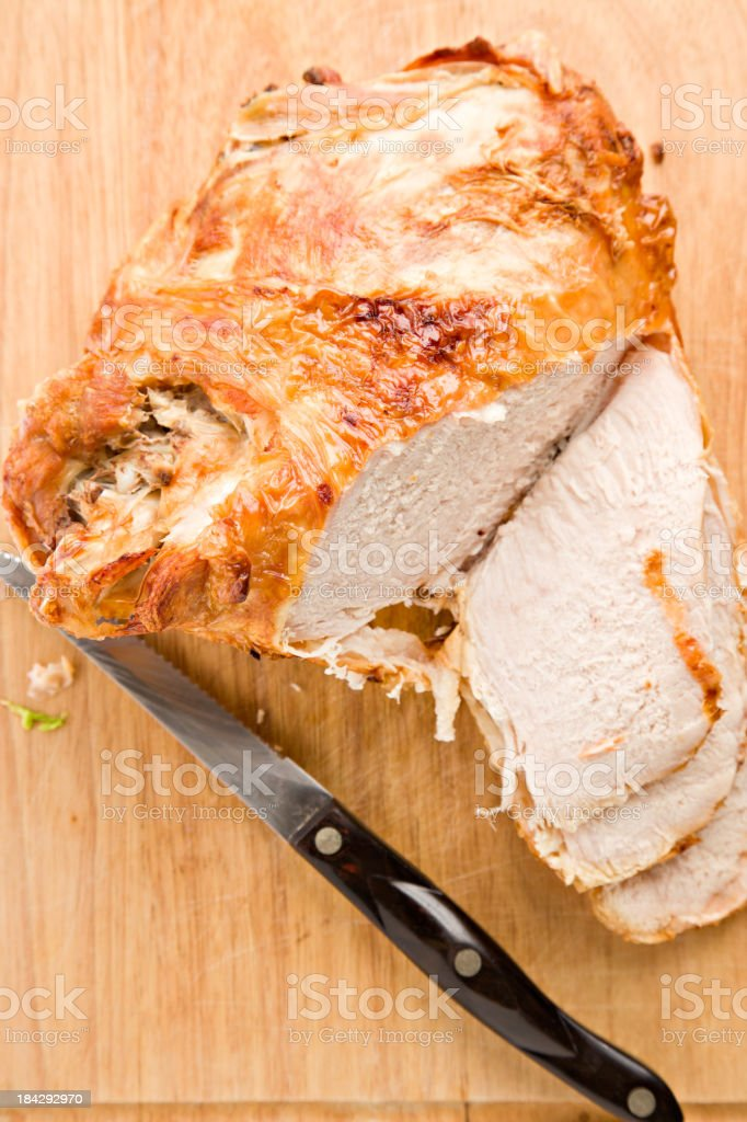 Turkey Breast Roasted And Slices stock photo