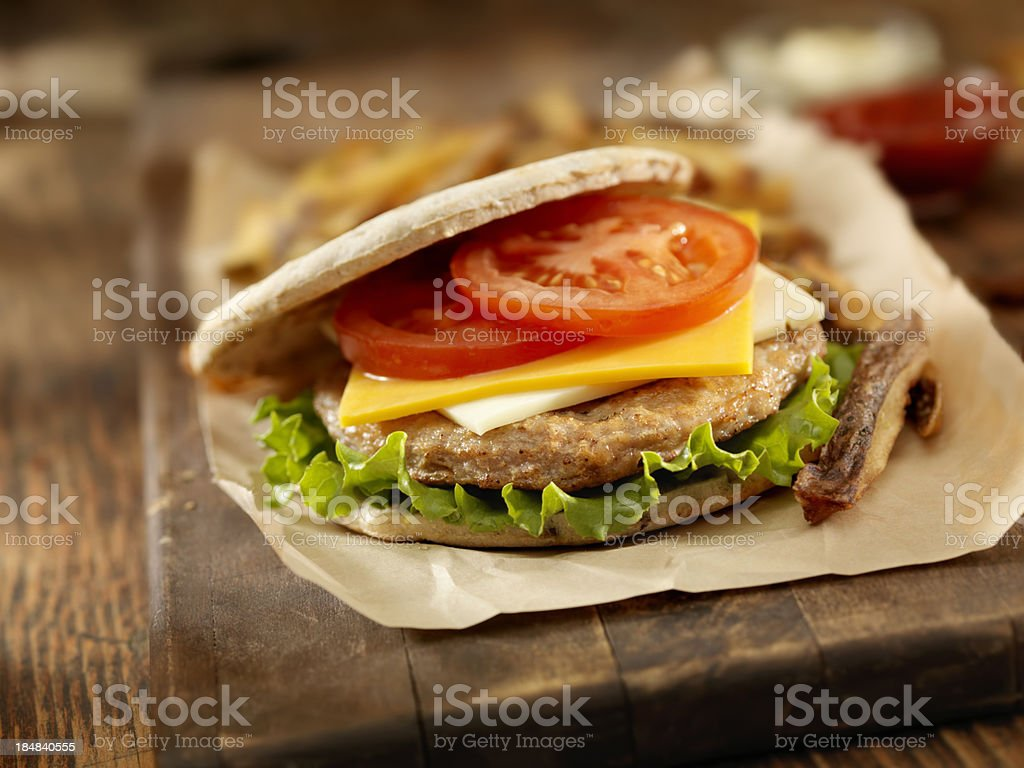Turkey Burger royalty-free stock photo