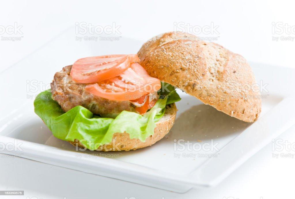 Turkey burgers stock photo