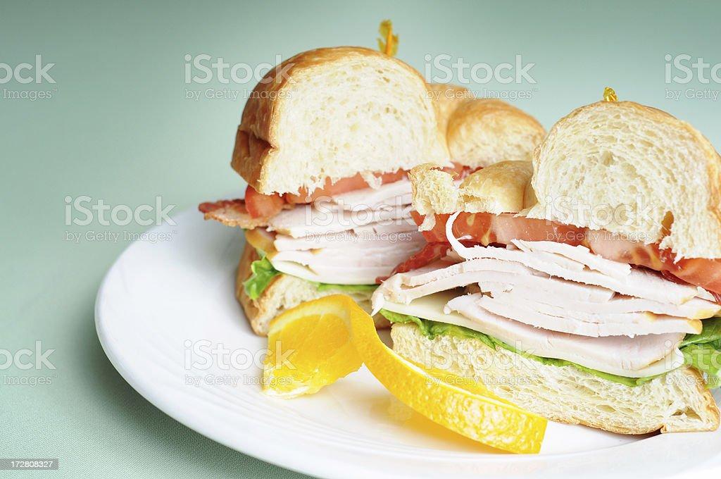 Turkey Club Croissant royalty-free stock photo