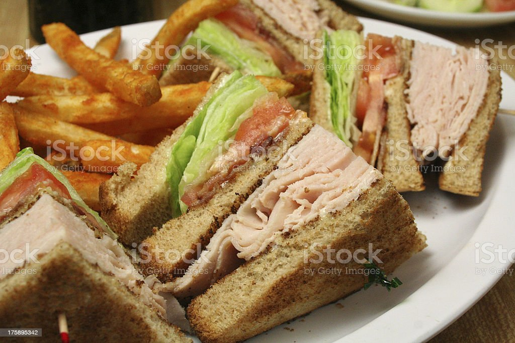 Turkey Club Sandwich royalty-free stock photo