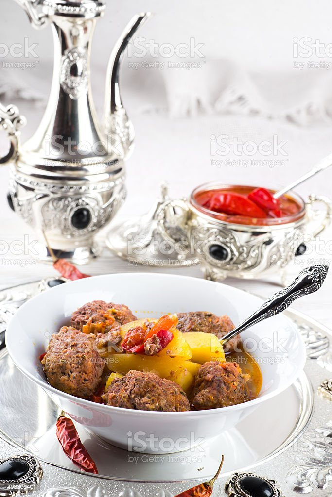 Turkey cutlets with pepper stock photo