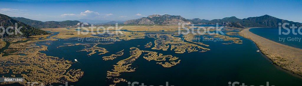 Turkey Dalyan Panoromic View stock photo