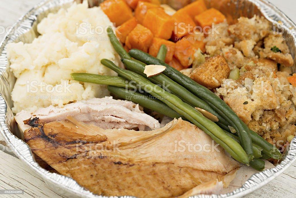 Turkey Dinner Leftovers stock photo