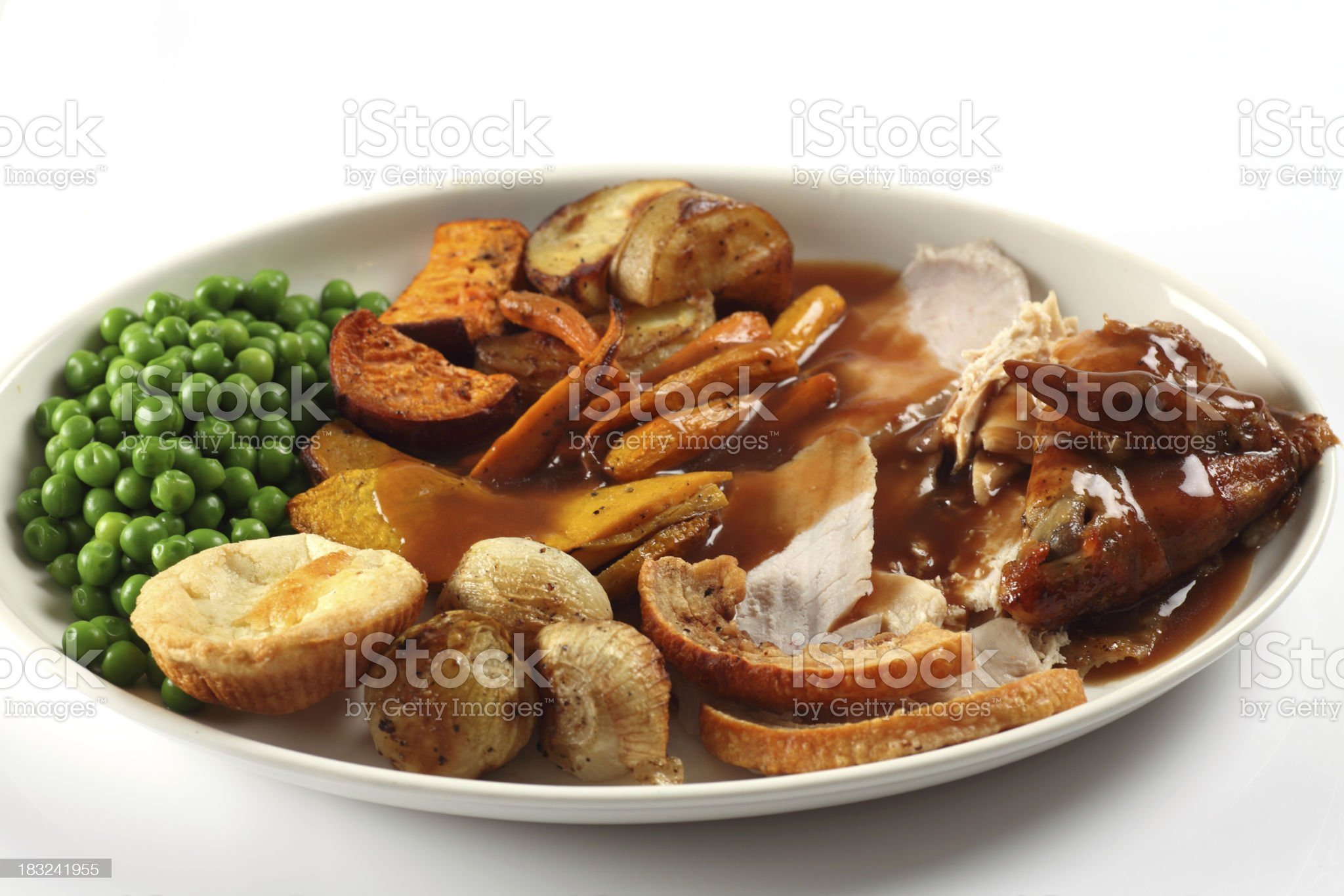 Turkey dinner royalty-free stock photo