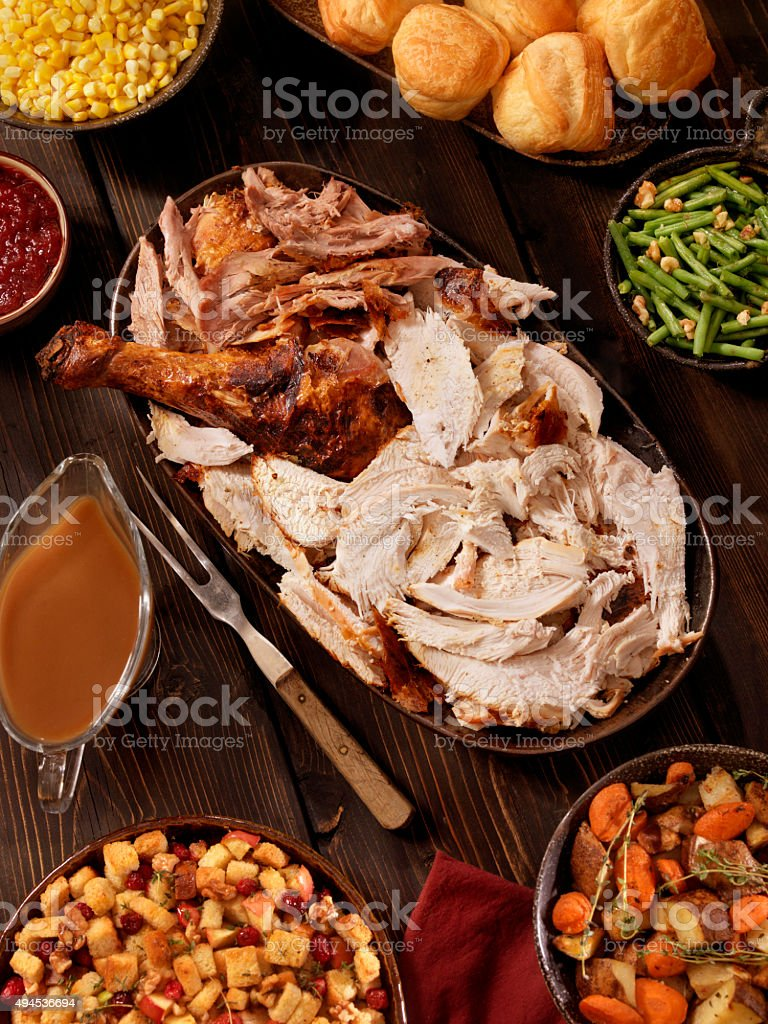 Turkey Dinner stock photo
