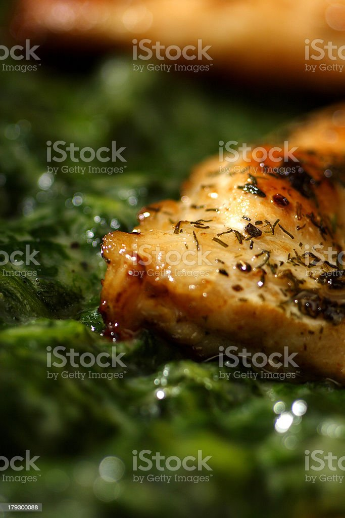 turkey escalop verde royalty-free stock photo
