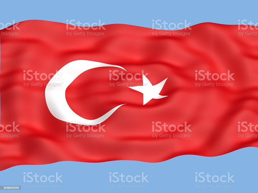 turkey flag stock photo