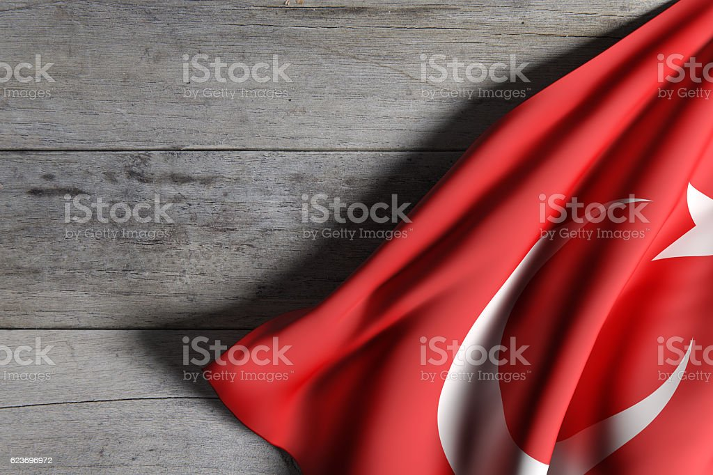 Turkey flag waving stock photo