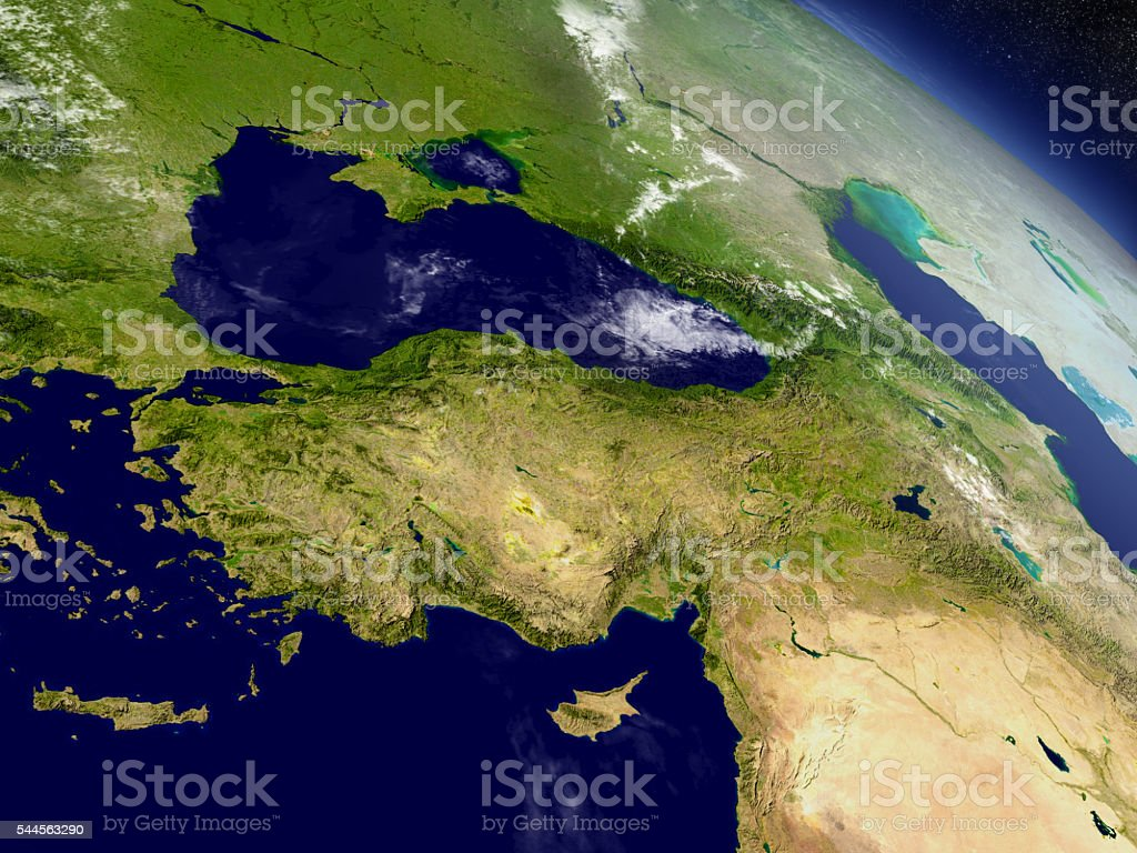 Turkey from space stock photo