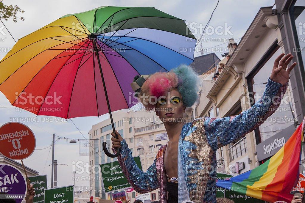 Turkey Gay Pride 2013 stock photo