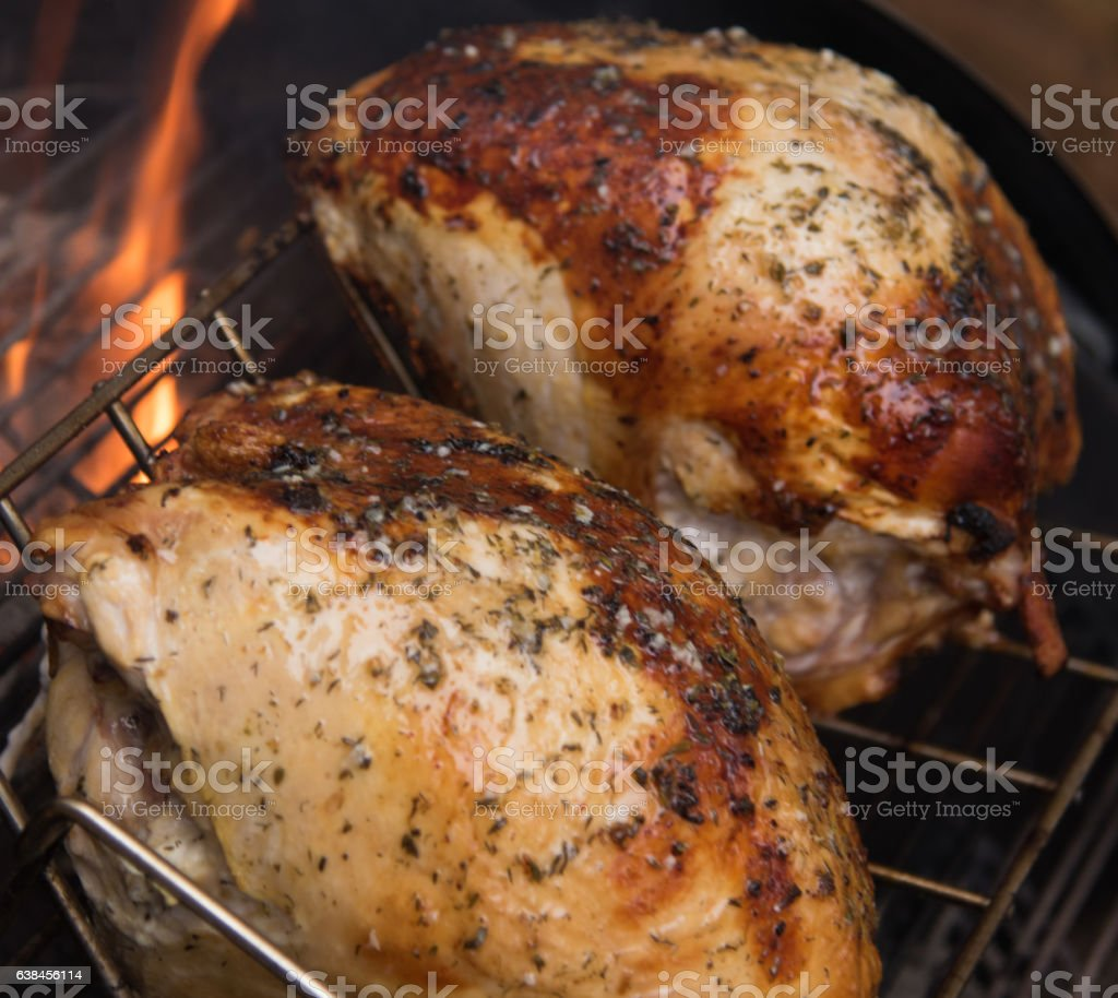 Turkey Grilling stock photo