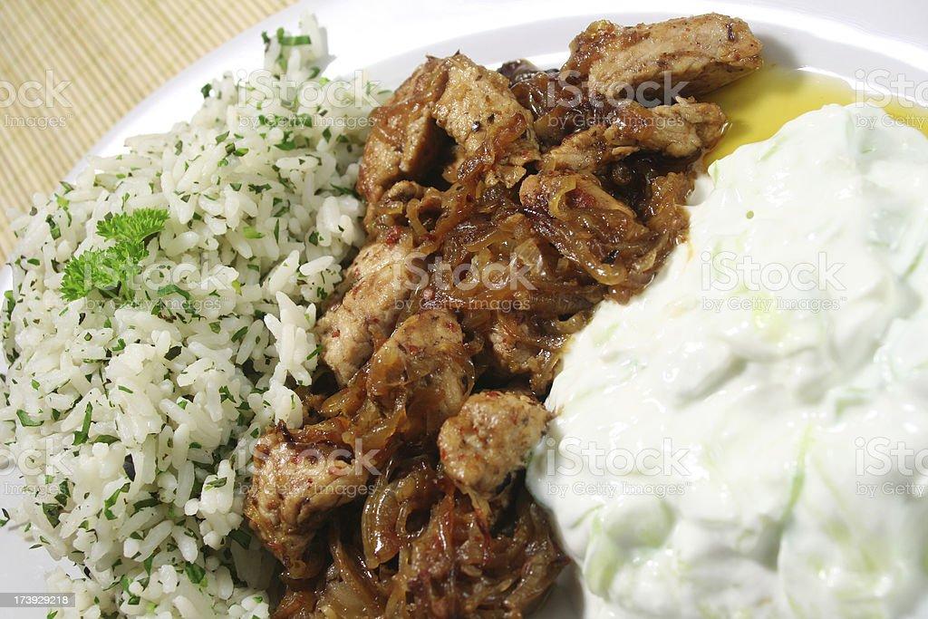 Turkey Gyros stock photo