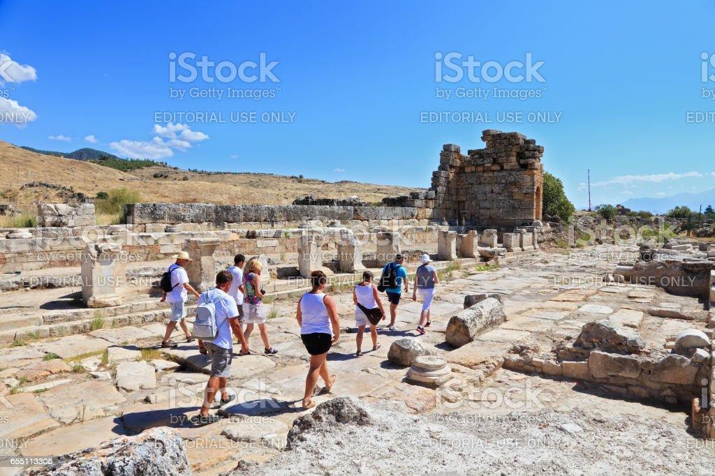 Turkey, Hierapolis in Pamukkale stock photo