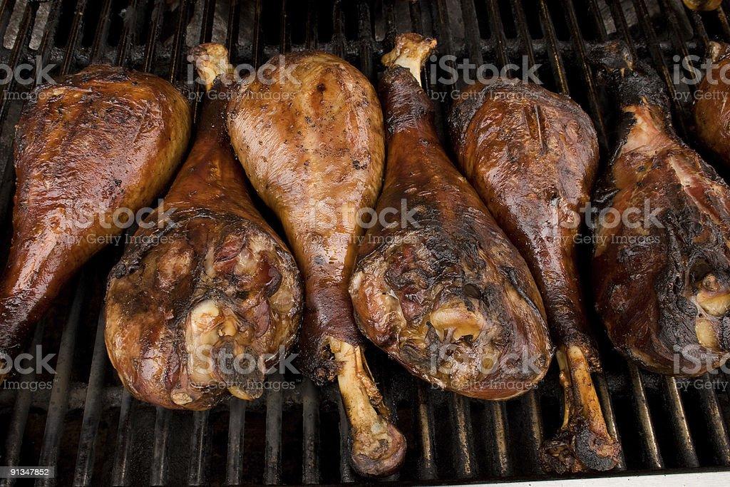 COUNTY FAIR, Turkey Legs on BBQ royalty-free stock photo