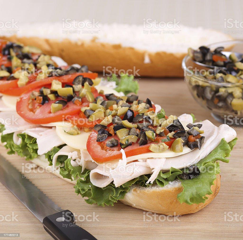 Turkey, Lettuce and Tomato Sandwich royalty-free stock photo