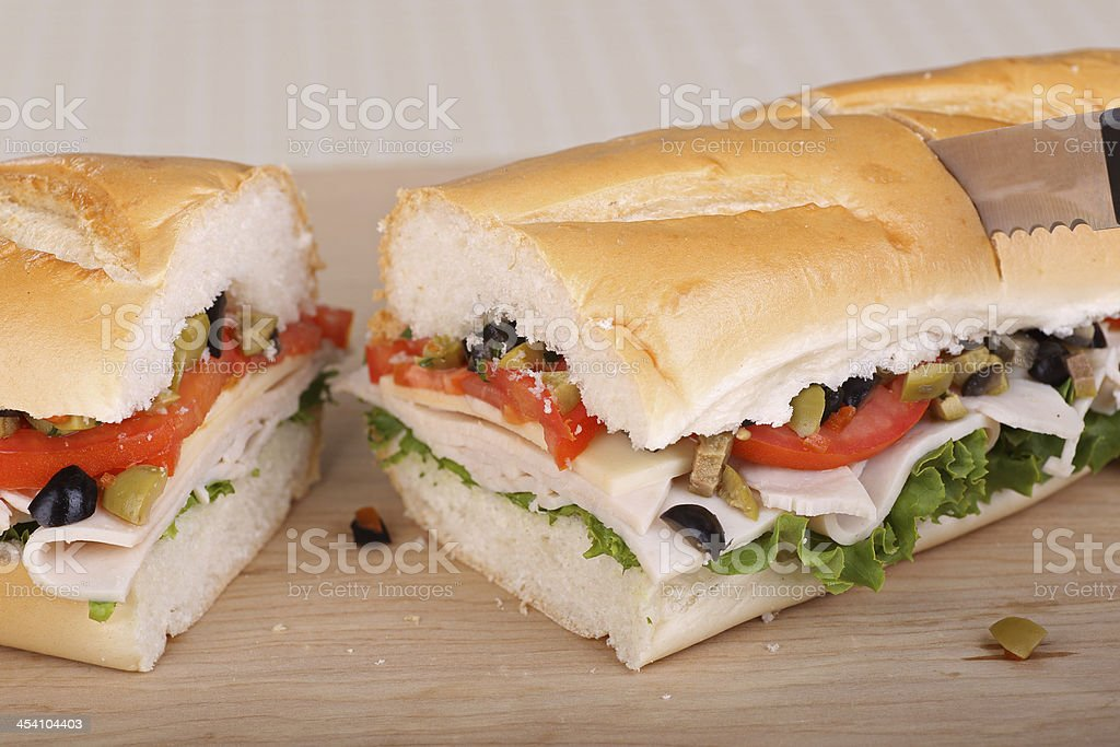 Turkey, Lettuce and Tomato Sandwich royalty-free stock photo