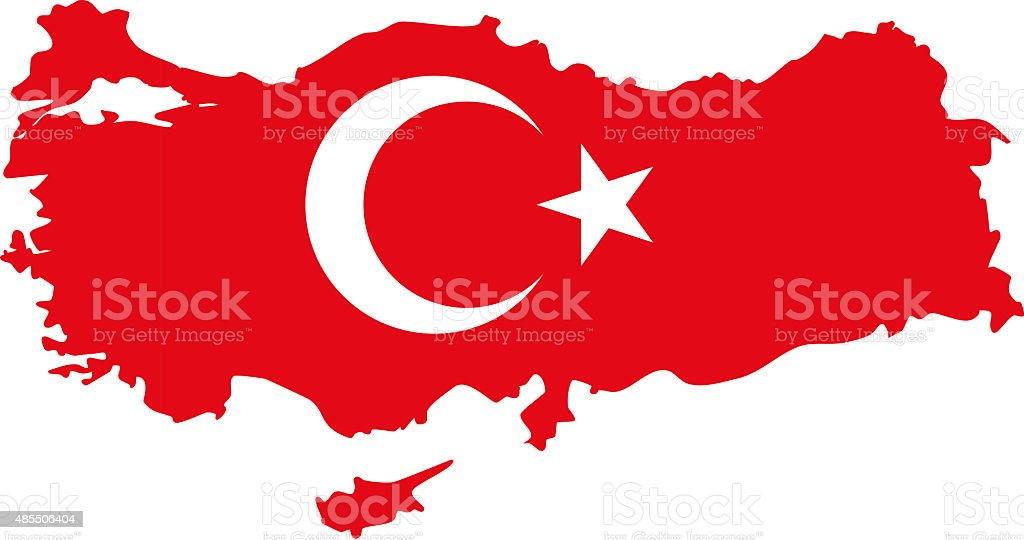 Turkey map stock photo
