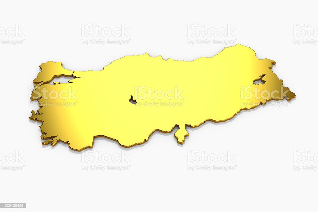 Turkey map stock photo