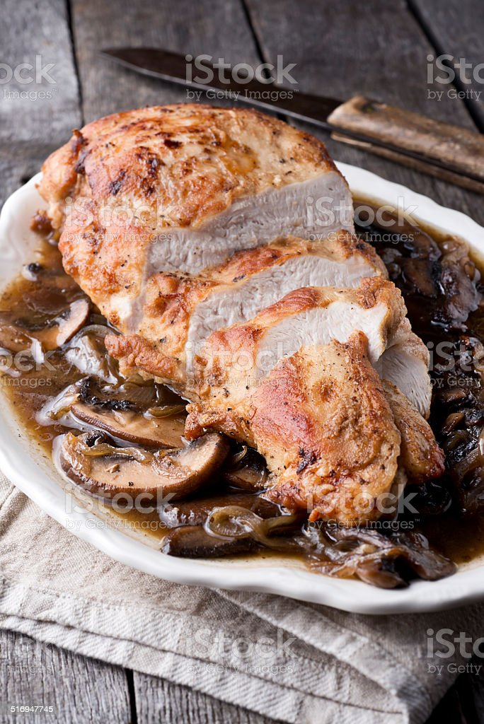 Turkey Marsala stock photo