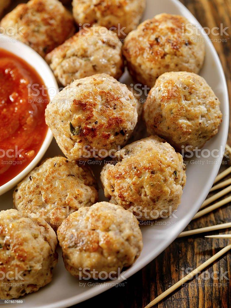 Turkey Meatballs royalty-free stock photo