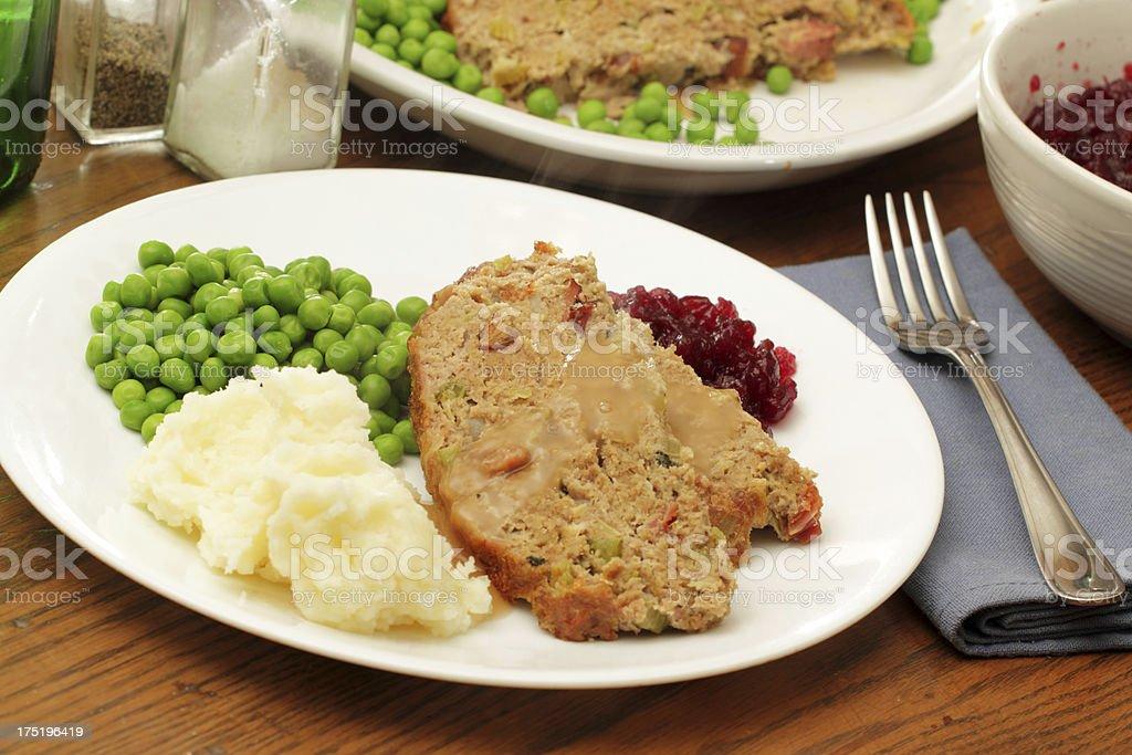 Turkey Meatloaf stock photo