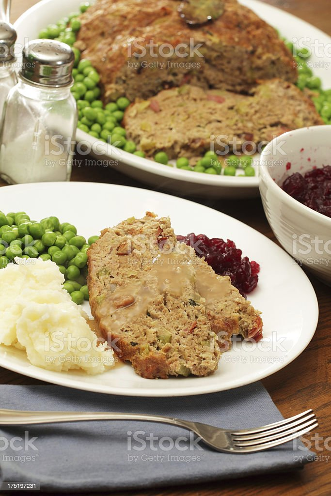 Turkey Meatloaf royalty-free stock photo