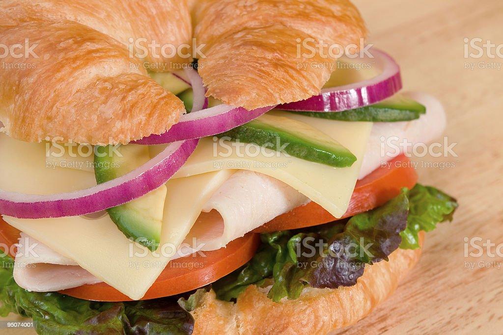 Turkey on a Croissant stock photo