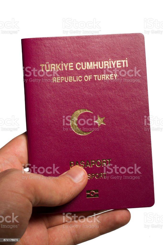 turkey passport stock photo