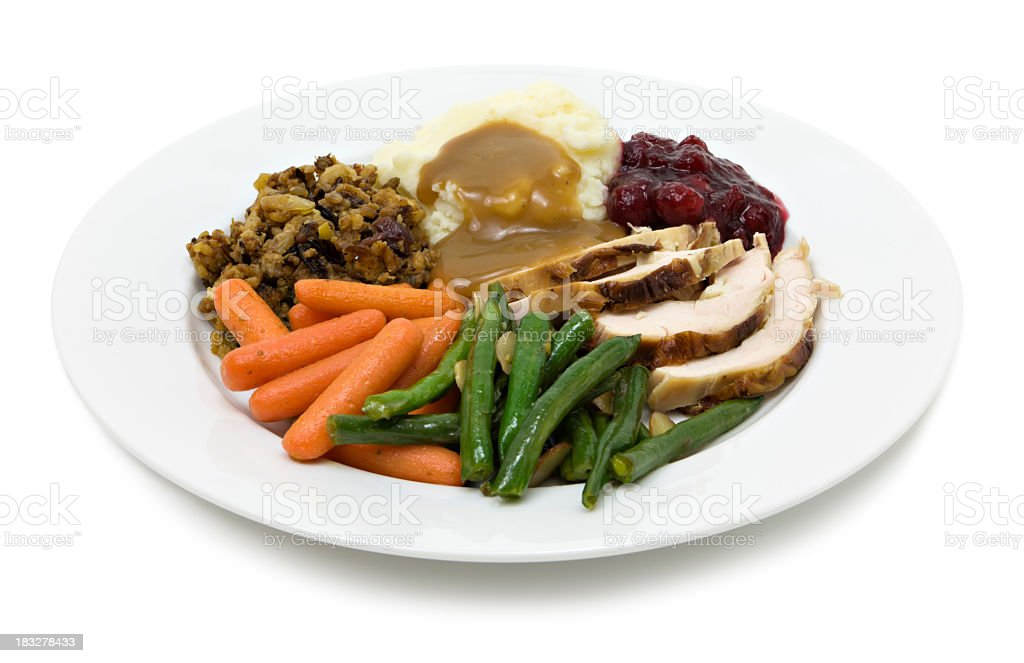 Turkey plate stock photo