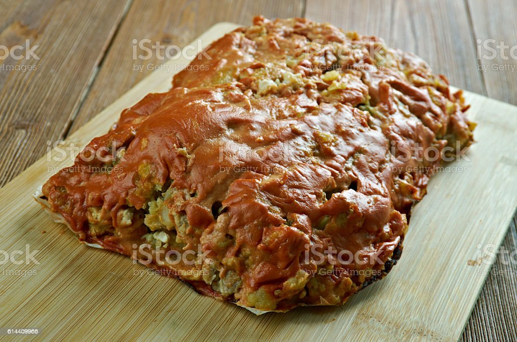 Turkey, Potato , Zucchini Meatloaf stock photo