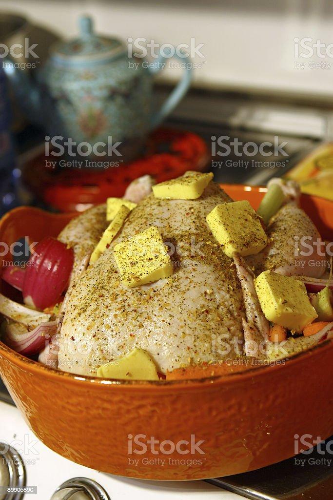 Turkey ready to cook stock photo