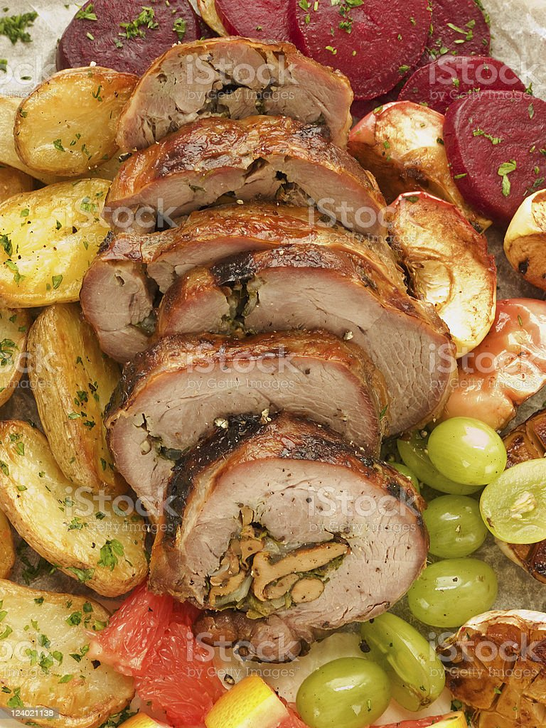 Turkey roulade stock photo