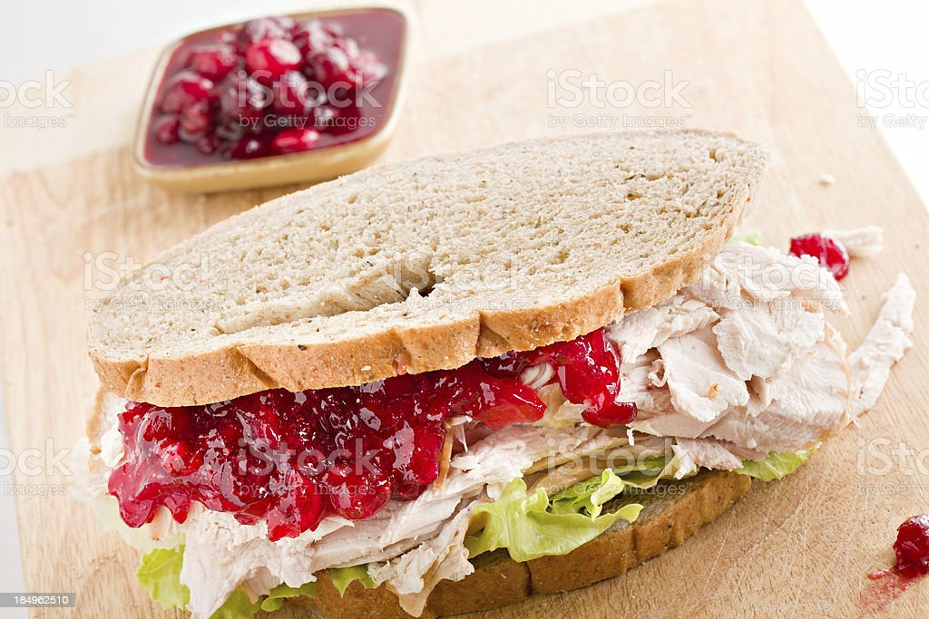 Turkey Sandwich And Cranberry Relish royalty-free stock photo