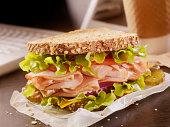 Turkey Sandwich at your Desk