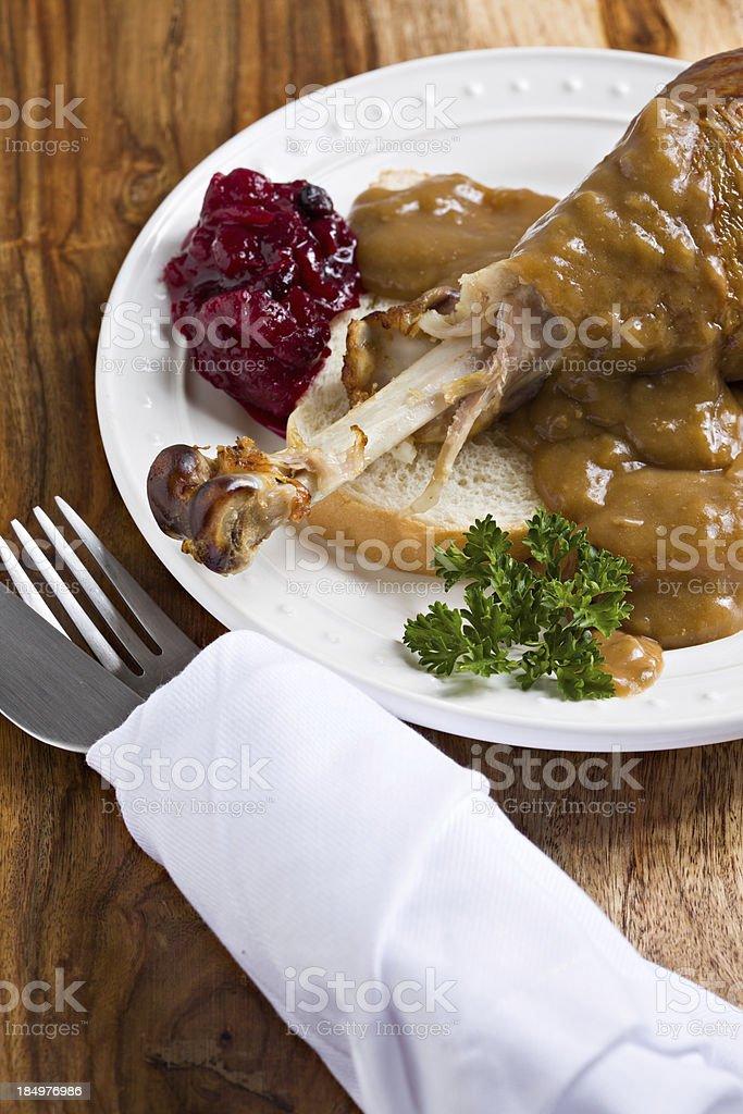 Turkey Sandwich Meal royalty-free stock photo