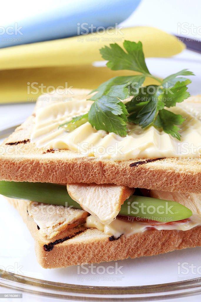 Сэндвич с индейкой Стоковые фото Стоковая фотография