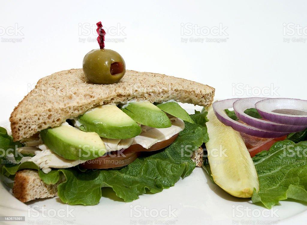Turkey Sandwich w/Avocado royalty-free stock photo