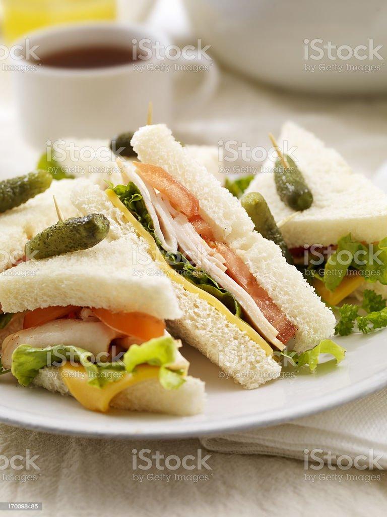 Turkey Sandwiches royalty-free stock photo