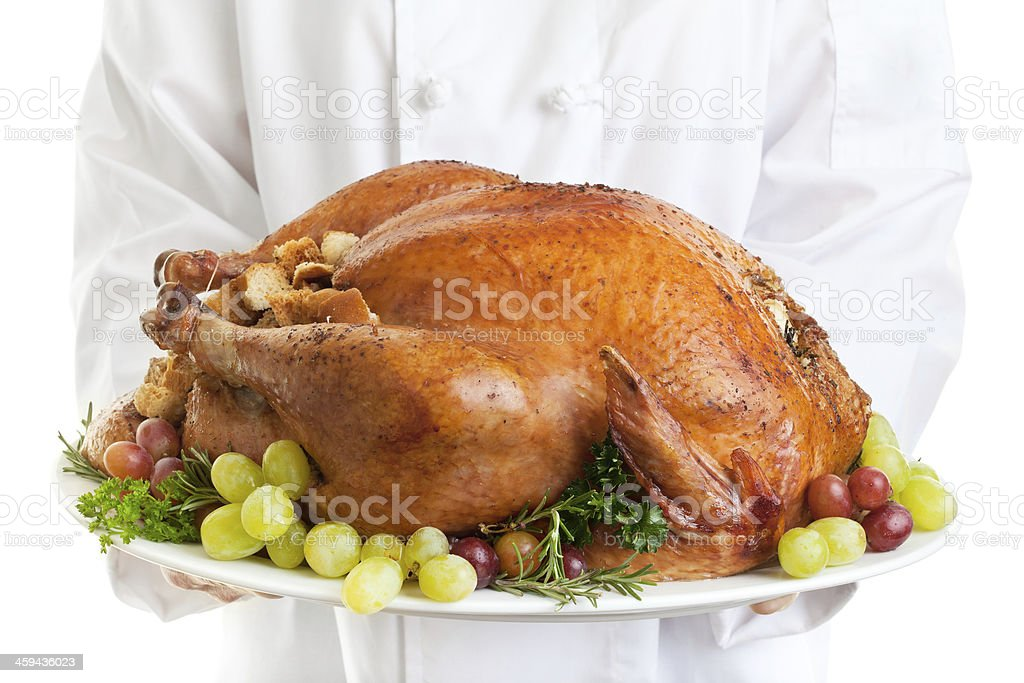 Turkey Served stock photo