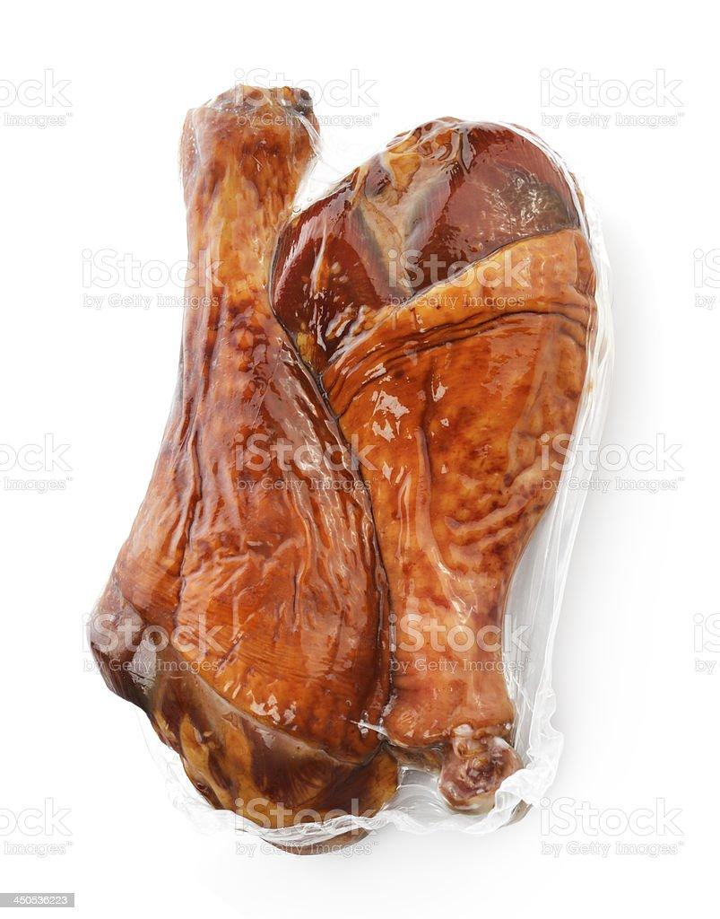 Turkey Smoked Drumsticks stock photo