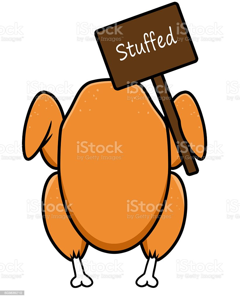 Turkey - Stuffed sign stock photo