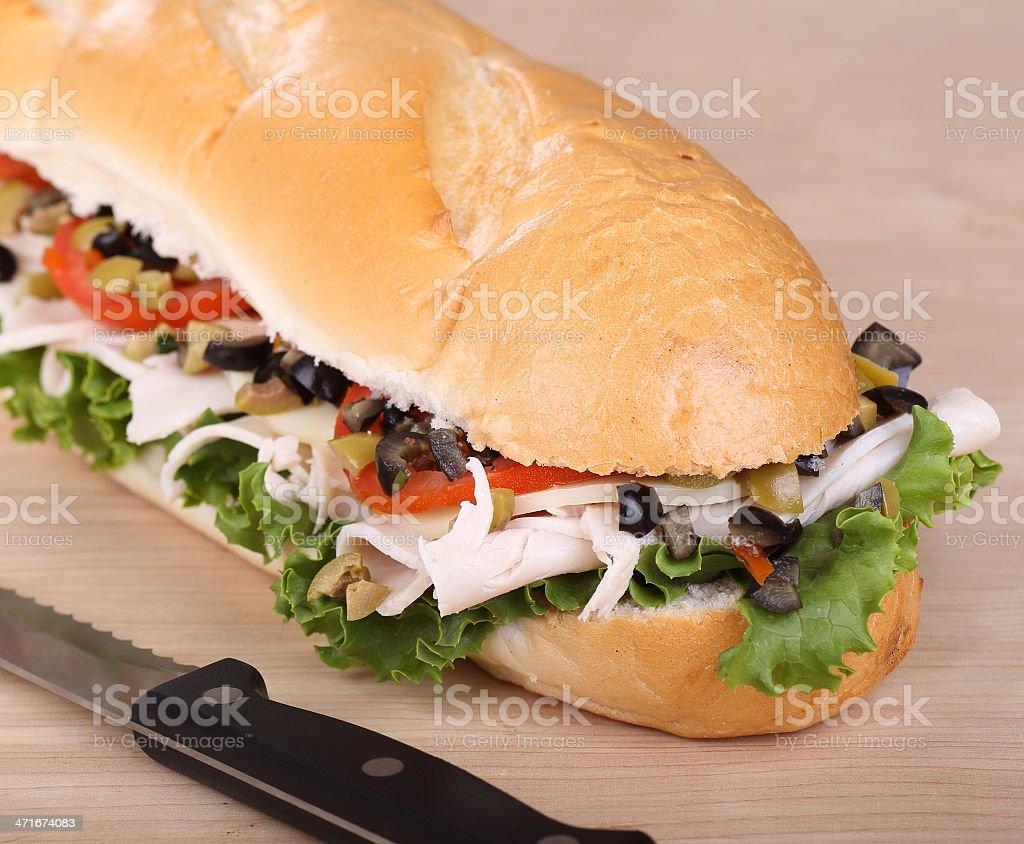 Turkey Sub Sandwich royalty-free stock photo