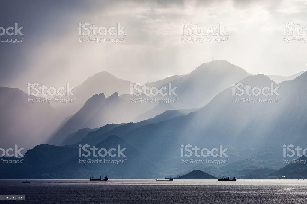 Turkey Taurus rock mountains landscape stock photo